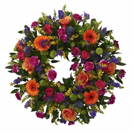 Vibrant loose wreath